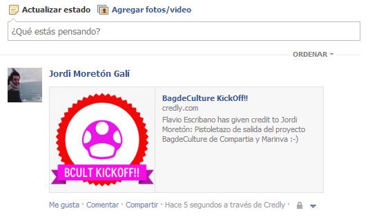 Badge de la reunión de Kickoff compartido en Facebook. Fuente: elaboración propia